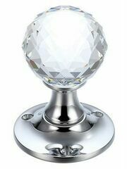 Fulton & Bray Facetted Glass Ball Mortice Knob
