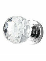 Karcher Clear Crystal Faceted Knob