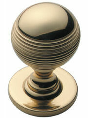 Samuel Heath Reeded Cupboard Door Knob