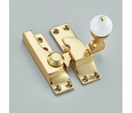 Croft Large Straight Arm Sash Fastener with White Knob