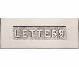 Marcus Embossed Letter Box Plate (Various Finishes)