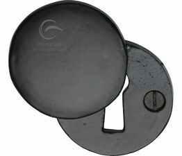 Marcus Black Iron Rustic  Round Covered Escutcheon