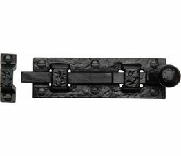 Marcus Tudor Black Iron Straight Door Bolt