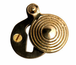 Cardea Cavendish Reeded Covered Key Escutcheon