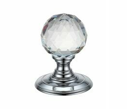 Fulton & Bray Glass Ball Concealed Fix Mortice Knob
