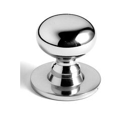 Samuel Heath Bun Cupboard Knob On Backplate