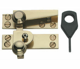 Samuel Heath Reeded Knob Locking Sash Fastener