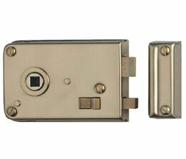 Pressed Slide Bolt Rim Latch 108mm Brass