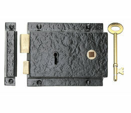 Kirkpatrick Antique Black Rim Lock