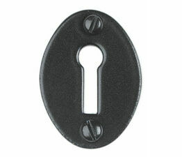 Kirkpatrick Smooth Black Oval Escutcheon