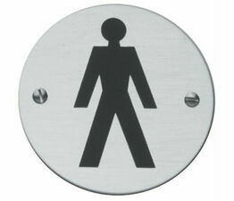 Male Toilet Symbol 76mm