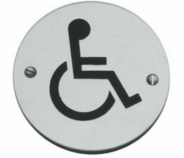 Disabled Toilet Symbol 76mm