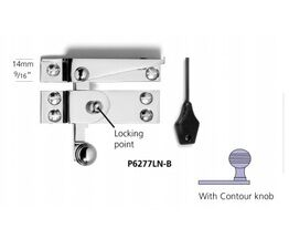 Samuel Heath Contour Knob Narrow Locking Sash Fastener