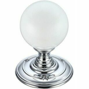 Fulton & Bray Frosted Glass Ball Mortice Knob