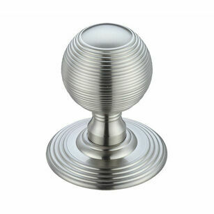 Fulton & Bray Concealed Fix Reeded Ball Mortice Knob