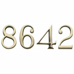 Lansdown Cast Brass House Number (Secret Fixing)