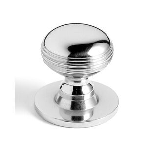 Samuel Heath Reeded Bun Cupboard Knob On Backplate