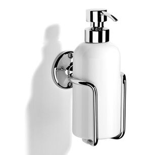 Samuel Heath Wall Mounted Curzon Liquid Soap Dispenser