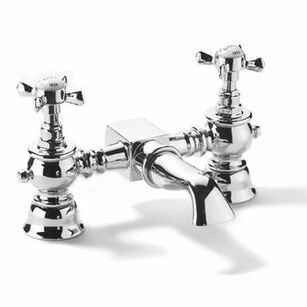 Samuel Heath Antique Deck Mounted Bath Mixer Tap
