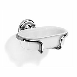 Samuel Heath Novis Soap Holder With Ceramic Insert