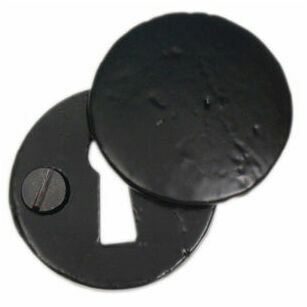 Cardea Black Covered Escutcheon - 40mm