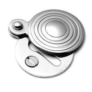 Samuel Heath Round Reeded Escutcheon With Cover