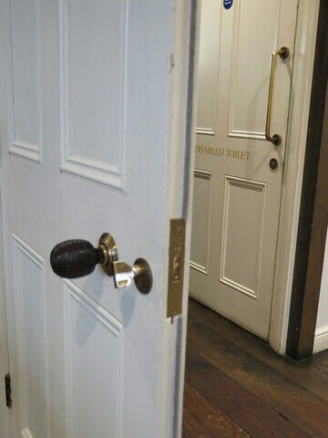 Traditional reeded timber knobs c/o 131 The Promenade, Cheltenham