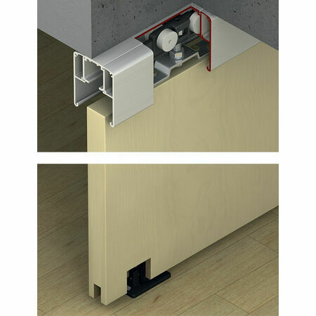 hafele slido classic sliding door system from. Black Bedroom Furniture Sets. Home Design Ideas