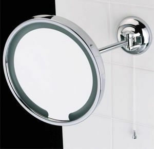 Samuel Heath Classic Single Arm Illuminated Magnifying Mirror From