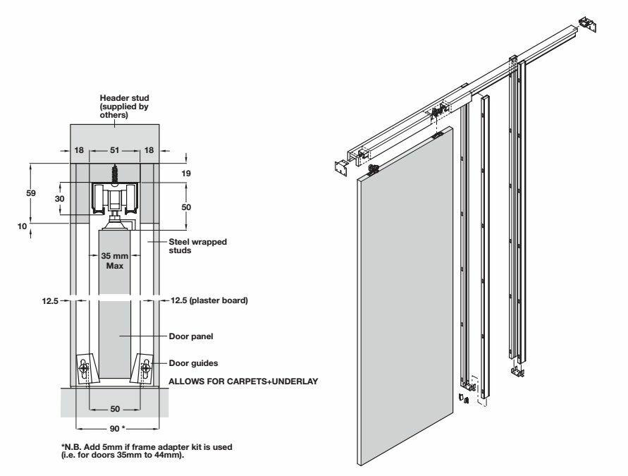 Pocket Hideaway Sliding Door System Additional 1 ...