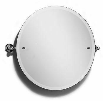Samuel heath curzon large round tilting mirror from for Round tilting bathroom mirror