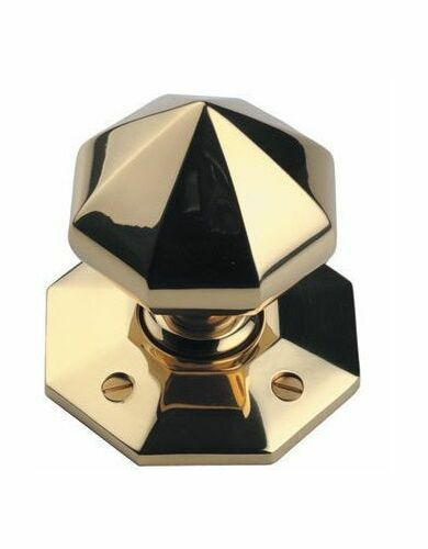 British Made Large Octagonal Mortice Knob