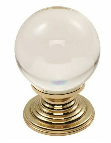 Carlisle Brass Crystal Clear Cupboard Door Knob