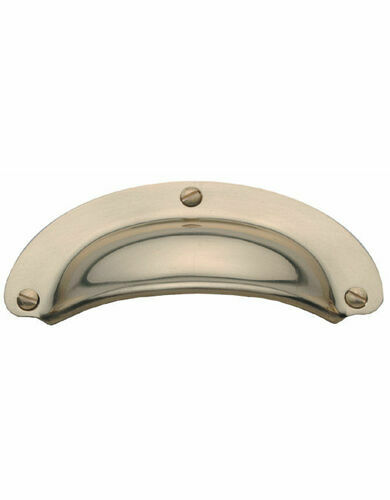DRAWER PULL PRESSED 96x40mm PB