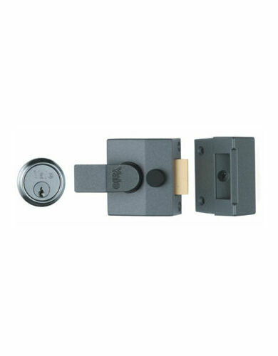 Night Latch Grey-Case (case depth) Cylinder