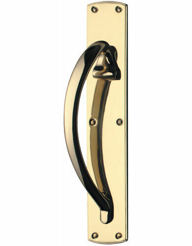 Carlisle Brass Pull Handle on Engraved Plate
