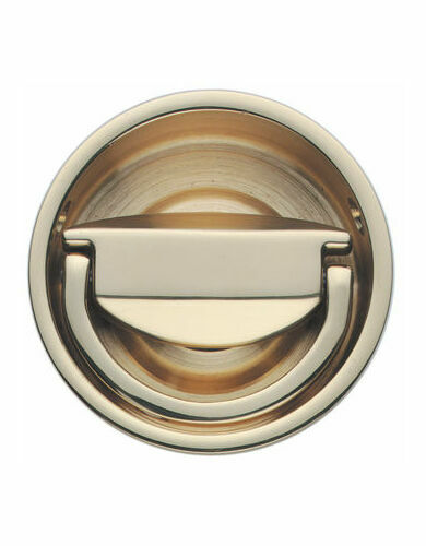 Circular Flush Ring Door Handle British Made