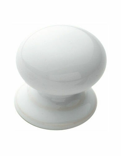 White Porcelain Cupboard Door Knob