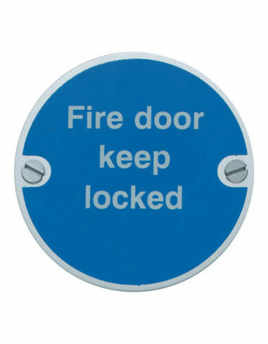 Fire Door Keep Locked 76mm From 163 3 48
