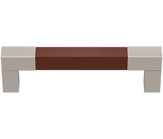 Turnstyle Designs Square D Recess Leather Cabinet Handle